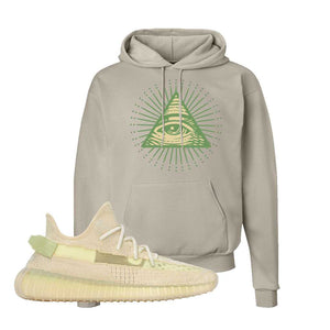 Yeezy Boost 350 V2 Flax Hoodie | Sand, All Seeing Eye