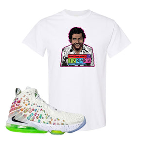 Lebron 17 Air Command Force T Shirt | White, Escobar Illustration