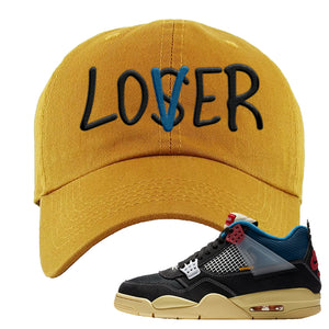 Union LA x Air Jordan 4 Off Noir Dad hat | Lover, Wheat