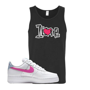 Air Force 1 Low Fire Pink Tank Top | Black, 1 Love
