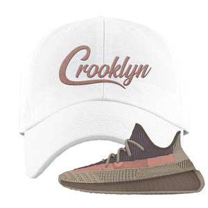 Yeezy 350 v2 Ash Stone Dad Hat | Crooklyn, White
