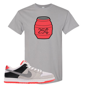 Nike SB Dunk Low Infrared Orange Label Quarter Water Gravel T-Shirt To Match Sneakers