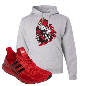 Ultra Boost 1.0 Nebraska Hoodie | Indian Chief, Ash