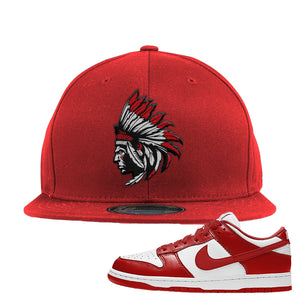 SB Dunk Low 'St. John's' Snapback Hat | Red, Indiacn Chief