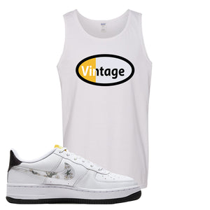 Air Force 1 Tank Top | White, Vintage Oval