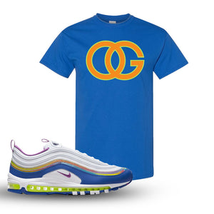 Air Max 97 'Easter' Sneaker Royal T Shirt | Tees to match Nike Air Max 97 'Easter'Shoes | OG