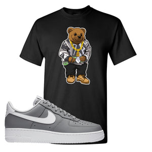 Air Force 1 Low Wolf Grey White T Shirt | Black, Sweater Bear