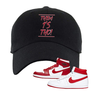 Jordan 1 New Beginnings Pack Sneaker Black Dad Hat | Hat to match Nike Air Jordan 1 New Beginnings Pack Shoes | Them 1's Tho