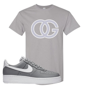 Air Force 1 Low Wolf Grey White T Shirt | Gravel, OG