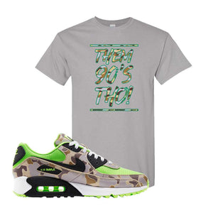 Air Max 90 Duck Camo Ghost Green T Shirt | Gravel, Them 90's Tho