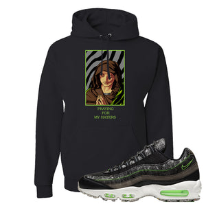Air Max 95 Black / Electric Green Hoodie | God Told Me, Black
