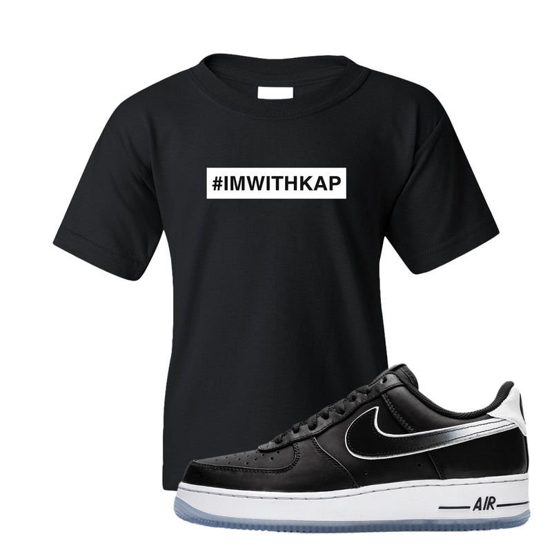 Colin Kaepernick X Air Force 1 Low Kid's T Shirt | Black, I'm With Kap