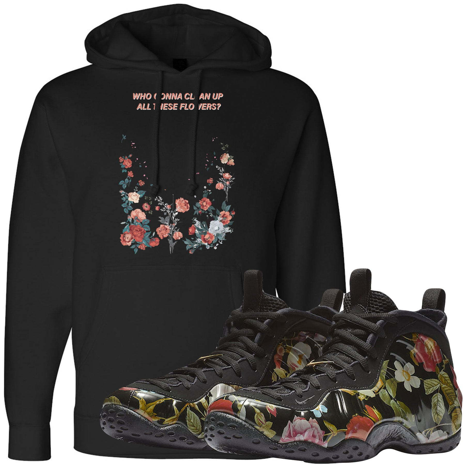 ae1f32b6 Wear this sneaker matching hoodie to match your Air Foamposite One Floral  sneakers. Match your