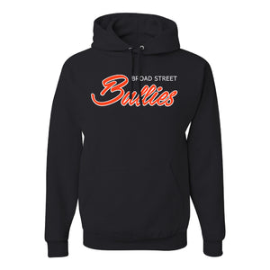 Broad Street Bullies Pullover Hoodie | Broad Street Bullies Black Pullover Hoodie the front of this pullover hoodie has the bullies script