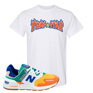 997S Multicolor Sneaker White T Shirt | Tees to match New Balance 997S Multicolor Shoes | Trap Star