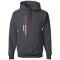 Standard Issue Red Lives Matter Distressed Gray Pullover Grunt Life Hoodie