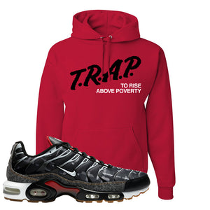 Air Max Plus Remix Pack Hoodie | Trap To Rise Above Poverty, Red