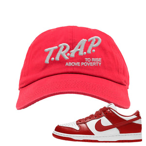SB Dunk Low St. Johns Dad Hat | Trap To Rise Above Poverty, Red
