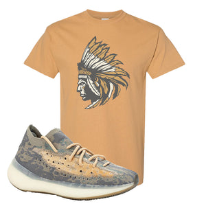 Yeezy Boost 380 Mist Sneaker Old Gold T Shirt | Tees to match Adidas Yeezy Boost 380 Mist Shoes | Indian Chief