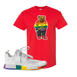 NMD R1 Pride T Shirt | Red, Sweater Bear