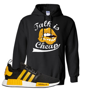 NMD R1 Active Gold Hoodie | Black, Talk is Cheap