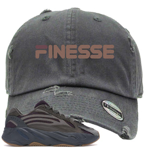 Yeezy Boost 700 Geode Sneaker Hook Up Finesse Gray Distressed Dad Hat