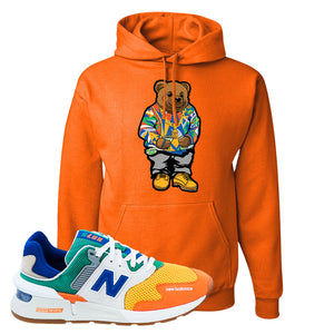 997S Multicolor Sneaker Safety Orange Pullover Hoodie | Hoodie to match New Balance 997S Multicolor Shoes | Sweater Bear