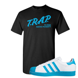 Adidas Superstar 'Aqua Toe' T Shirt | Black, Trap To Rise Above Poverty