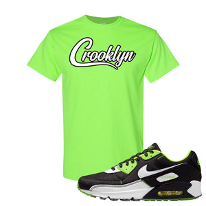 Air Max 90 Exeter Edition Black T Shirt | Crooklyn, Neon Green