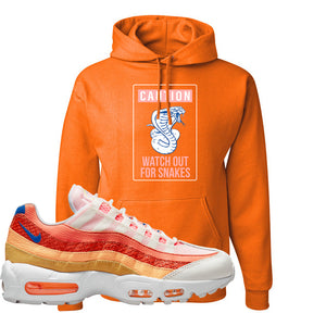 Air Max 95 Orange Snakeskin Hoodie | Caution Snakes, Orange