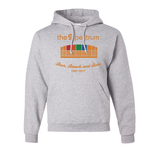 Spectrum Stadium Pullover Hoodie | The Spectrum Stadium AshPullover Hoodie the front of this hoodie has the spectrum on it