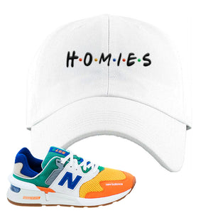 997S Multicolor Sneaker White Dad Hat | Hat to match New Balance 997S Multicolor Shoes | Homies