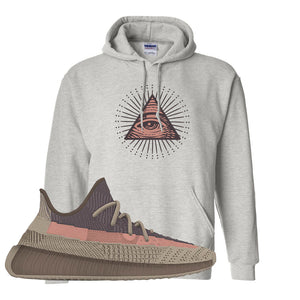 Yeezy 350 v2 Ash Stone Hoodie | All Seeing Eye, Ash