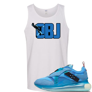 Air Max 720 OBJ Slip Light Blue Tank Top | White, OBJ catch