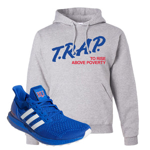 Ultra Boost 1.0 Kansas Hoodie | Trap To Rise Above Poverty, Ash