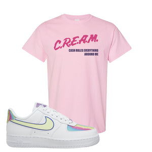 Air Force 1 Low Easter T Shirt | Light Pink, Cash Rules