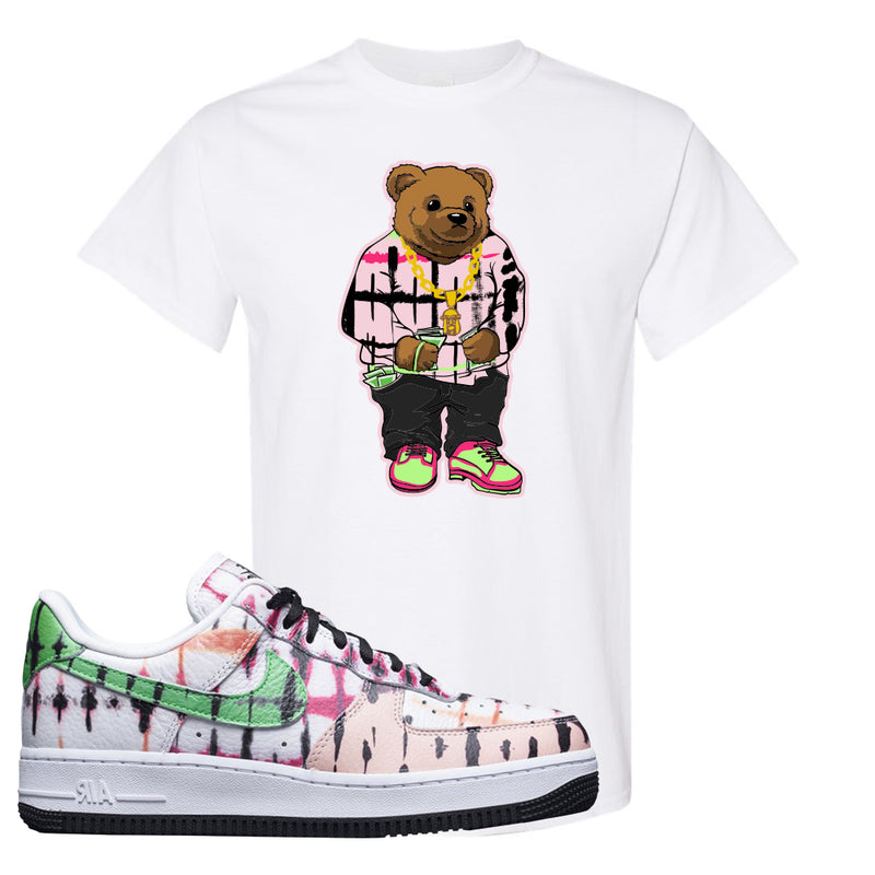 Air Force 1 Low Multi-Colored Tie-Dye T Shirt | White, Sweater Bear