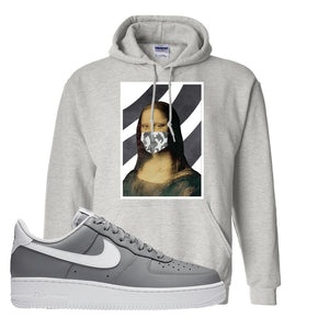 Air Force 1 Low Wolf Grey White Hoodie | Ash, Mona Lisa Mask