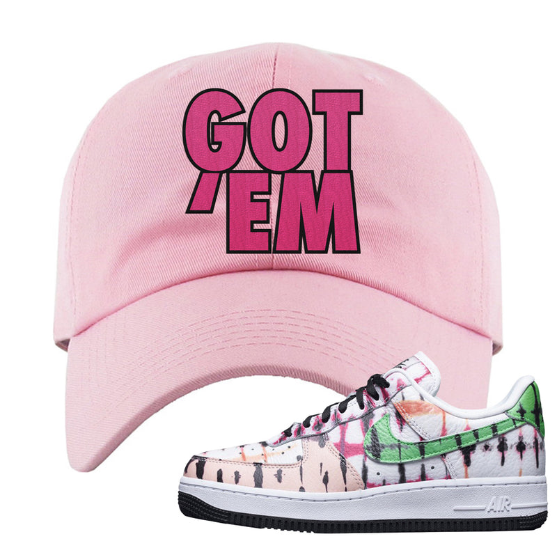 Air Force 1 Low Multi-Colored Tie-Dye Dad Hat | Light Pink, Got Em