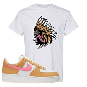 Nike Air Force 1 Pink Orange T-Shirt | Indian Chief, Ash