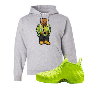 Air Foamposite Pro Volt Hoodie | Sweater Bear, Ash