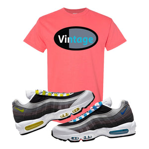 Air Max 95 QS Greedy T Shirt | Coral Silk, Vintage Oval