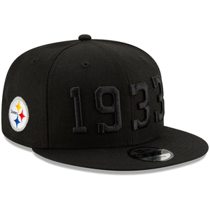 Men's Pittsburgh Steelers New Era Black 2019 NFL On Field Sideline Color Rush 9FIFTY Black Snapback Hat
