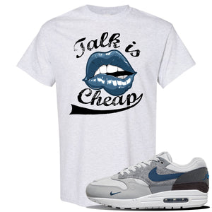 Air Max 1 London City Pack T Shirt | Ash, Talk Is Cheap