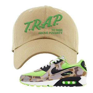 Air Max 90 Duck Camo Ghost Green Dad Hat | Khaki, Trap To Rise Above Poverty