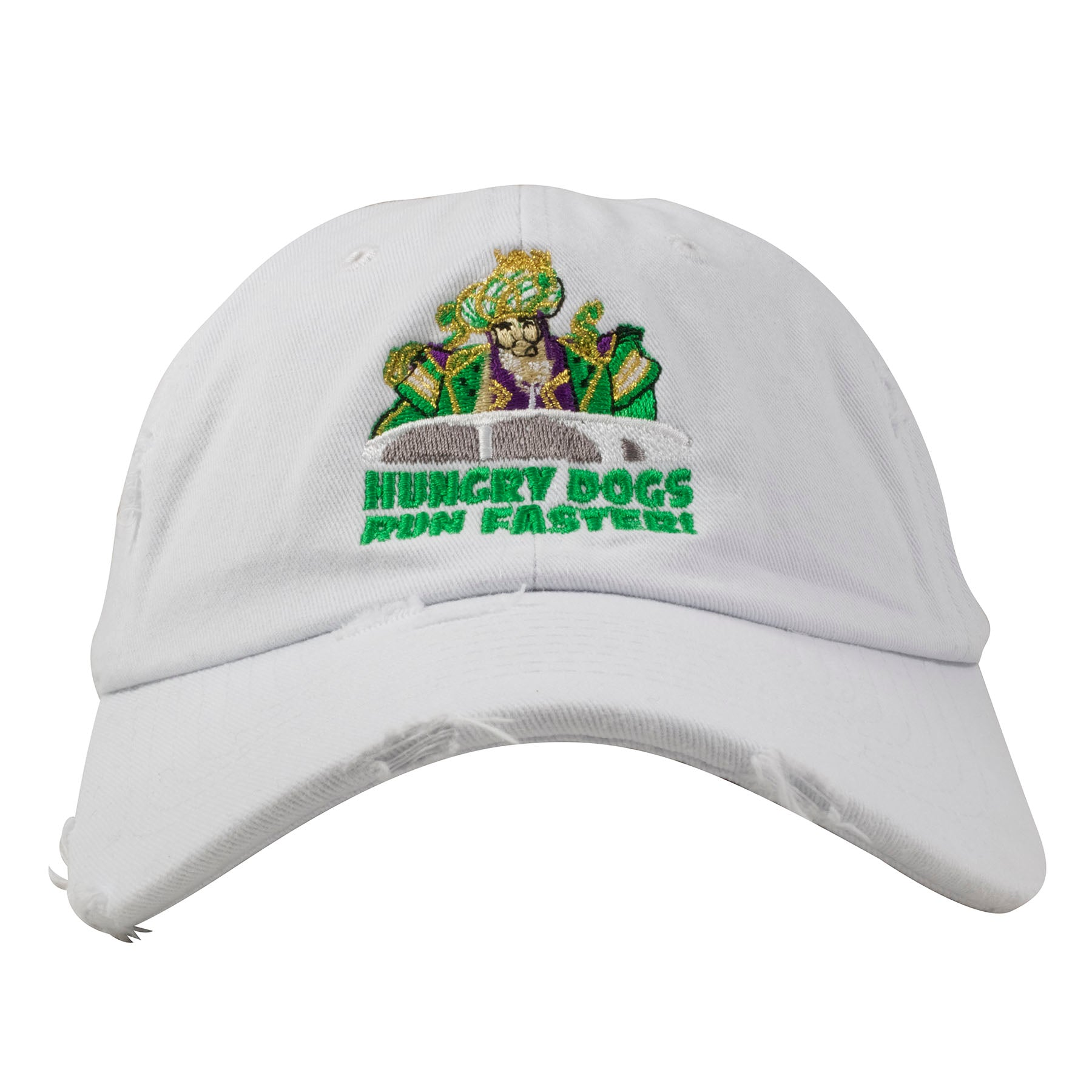 Embroidered on the front of the Jason Kelce Hungry Dogs Run Faster Dad Hat  is an 8127773ca46