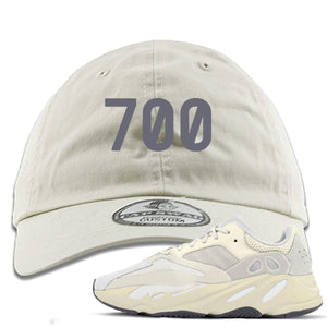 "Yeezy Boost 700 Analog Sneaker Hook Up ""700"" Ivory Dad Hat"