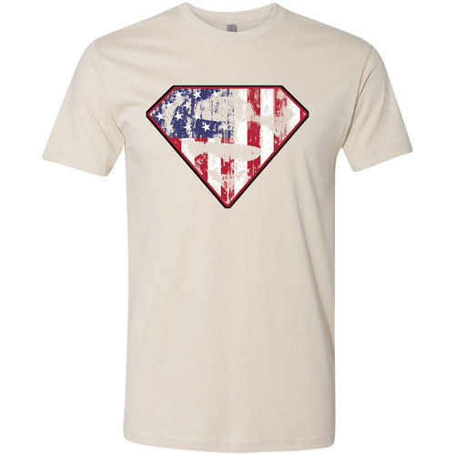 Standard Issue Diamond S Logo American Flag Distressed Safari Grunt Life T-Shirt