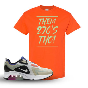 Air Max 200 WMNS Fossil Sneaker Orange T Shirt | Tees to match Nike Air Max 200 WMNS Fossil Shoes | Them 270S THO