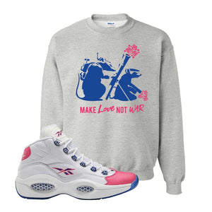 Question Mid Pink Toe Sweatshirt | Army Rats, Ash